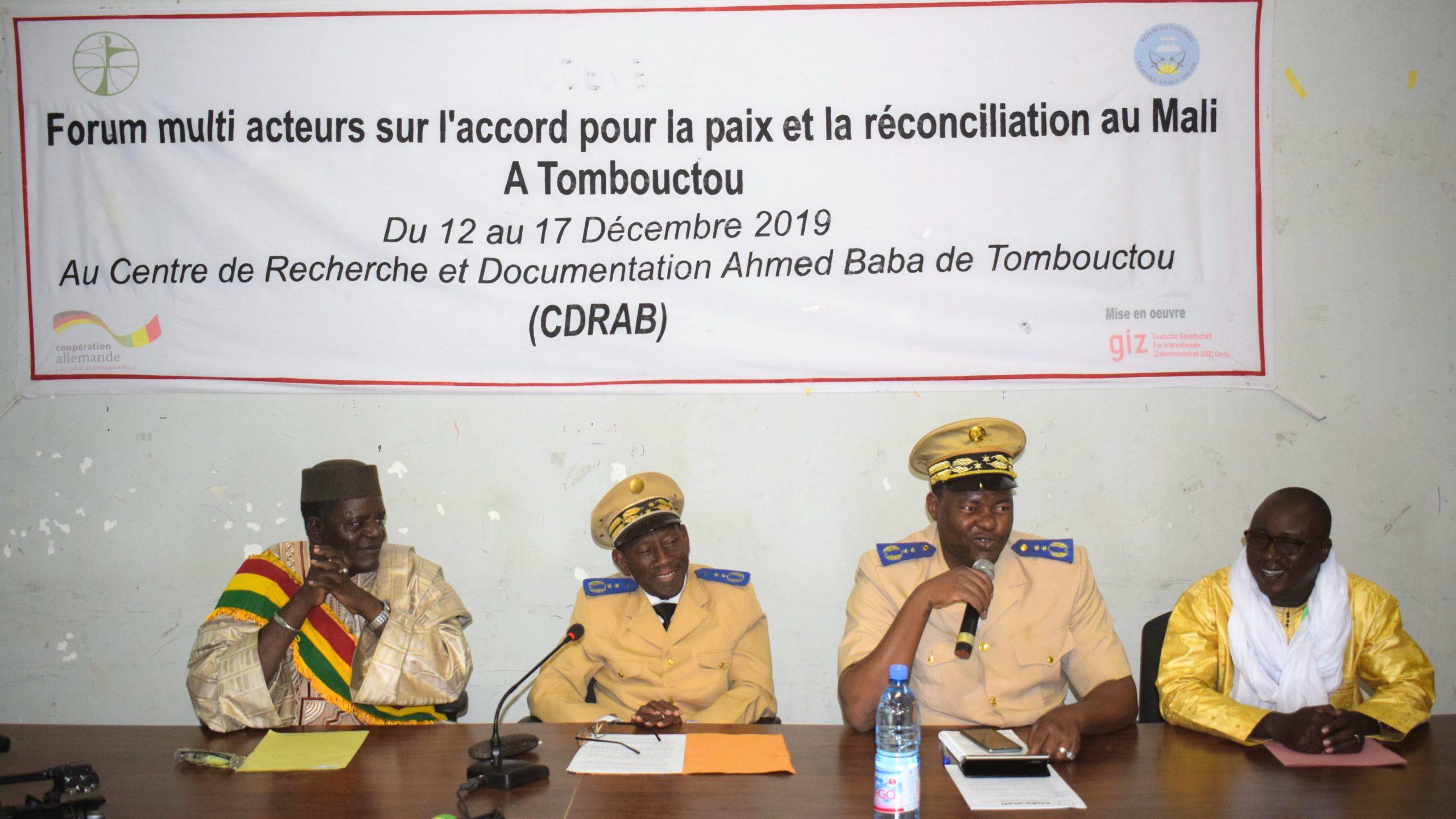 ENDA-Mali, dans la quête perpétuelle de la paix dans la région de  Tombouctou.