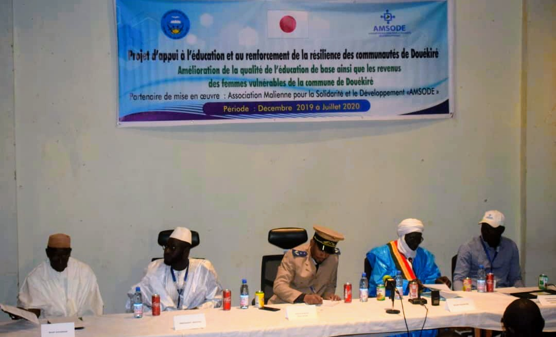 Lancement du Projet d'appui à l'éducation et au renforcement de la résilience des communautés de Douékiré à Tombouctou.