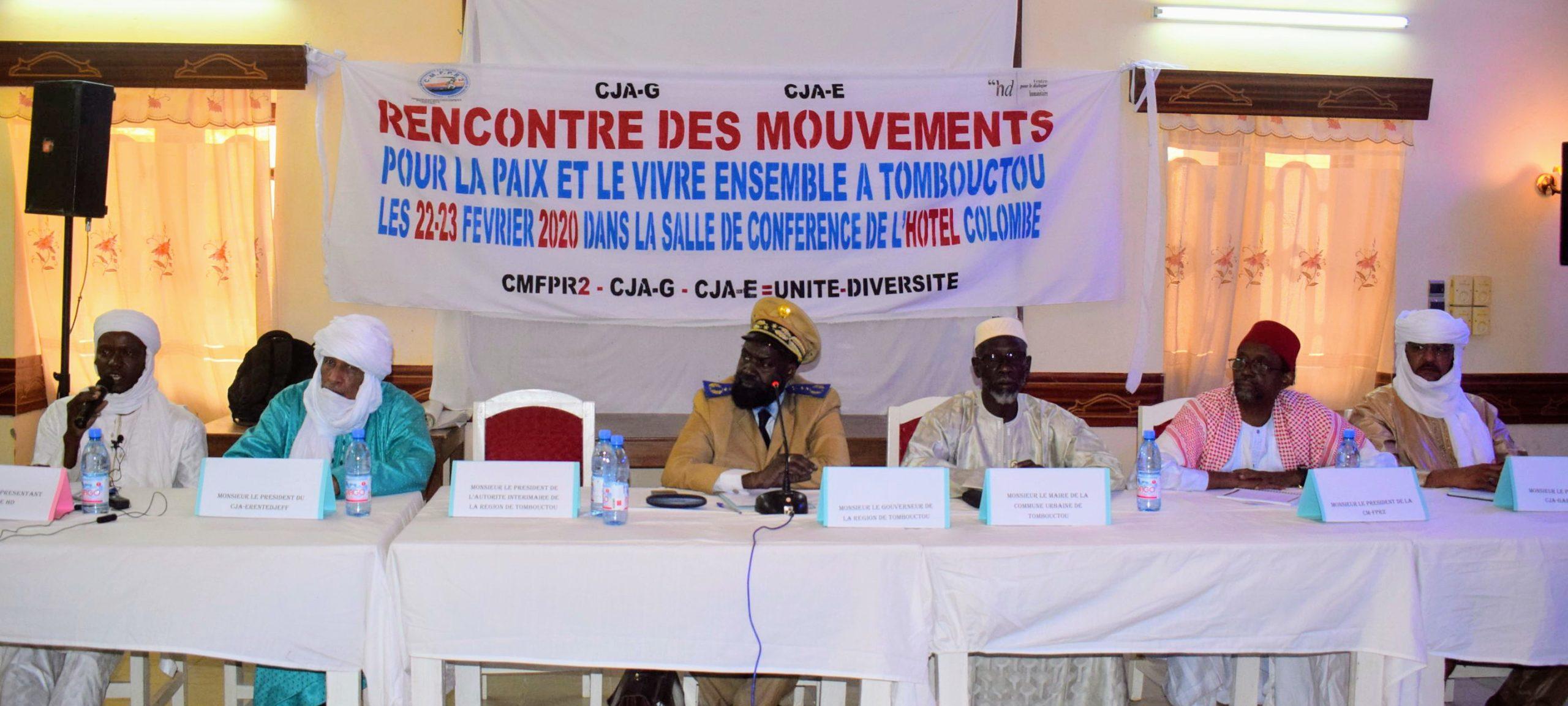 Des mouvements armés s'organisent pour la paix et le vivre Ensemble dans la région de Tombouctou.