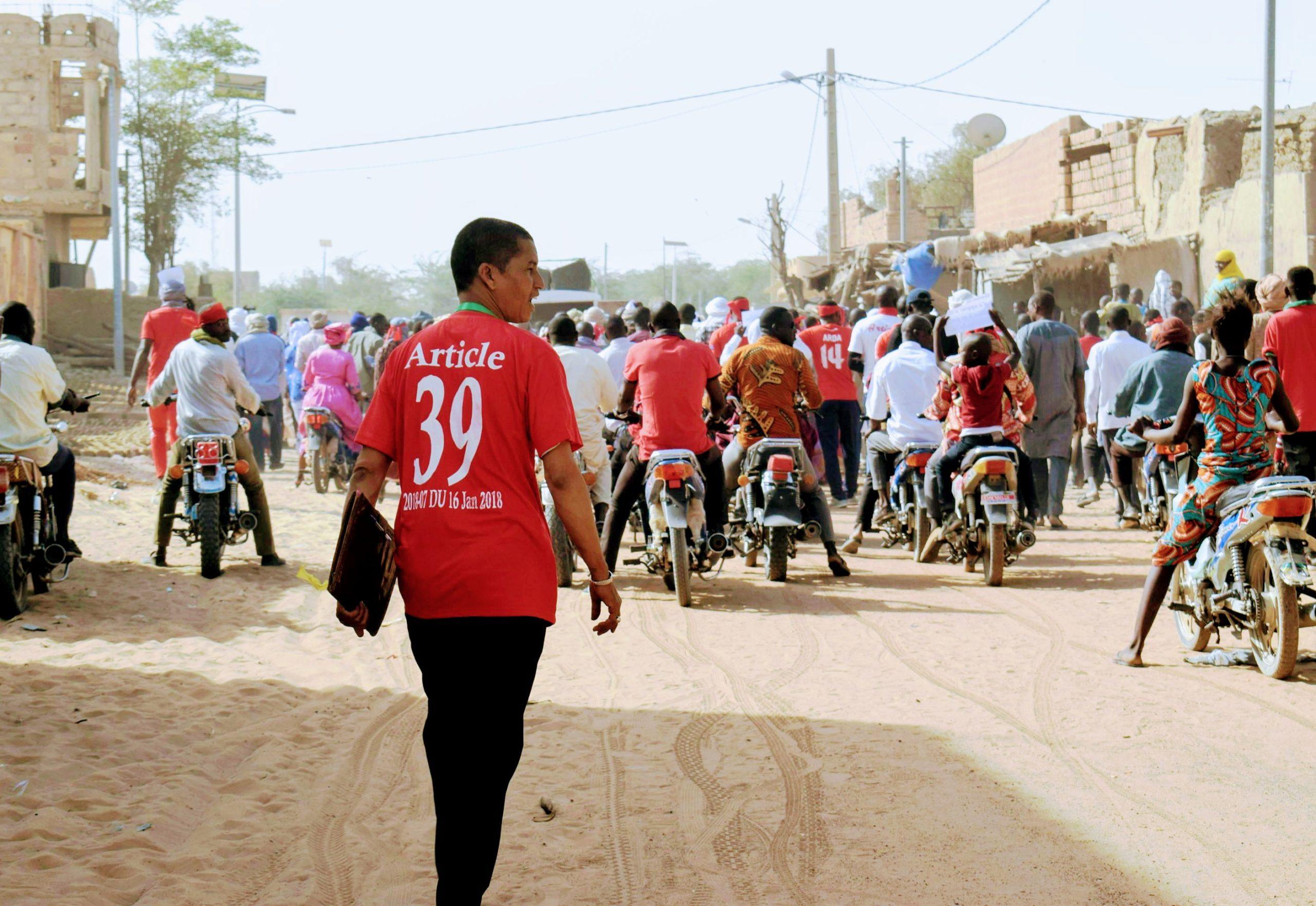 Les enseignants de Tombouctou, dans la rue.