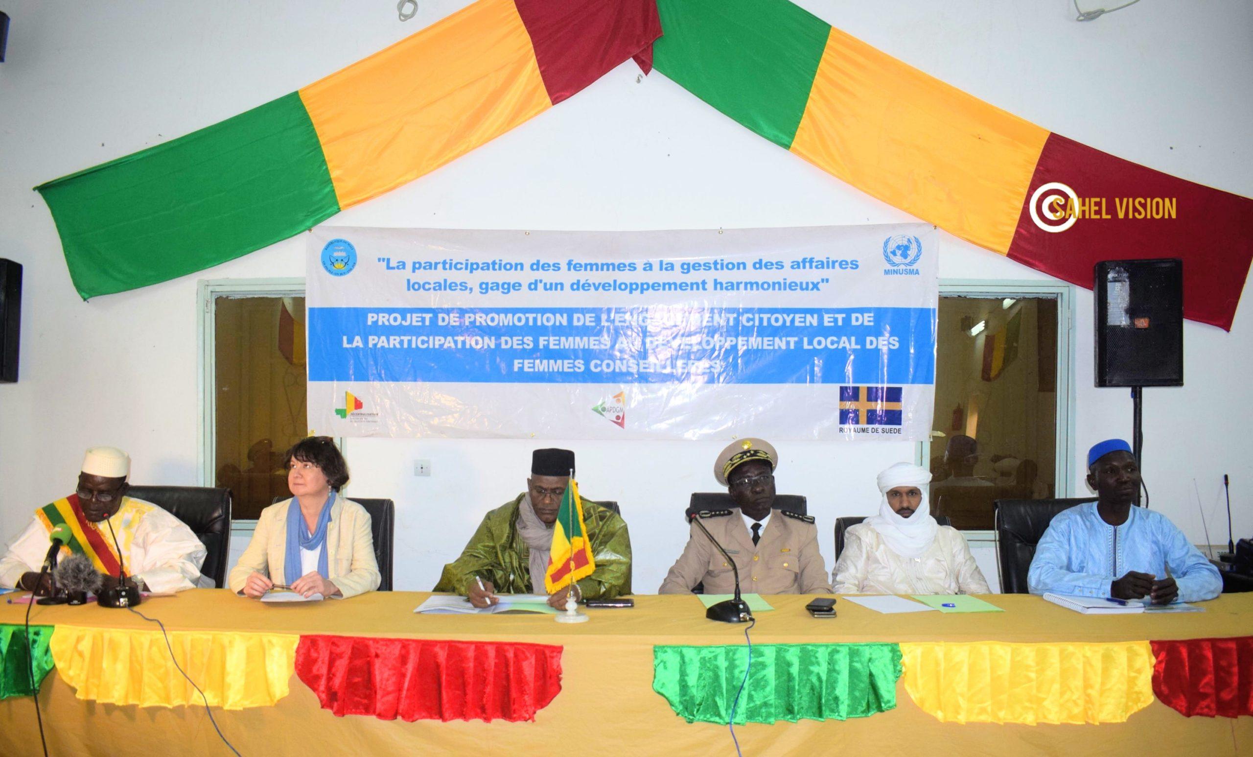 Renforcement des capacités des femmes élues de la région de Tombouctou.