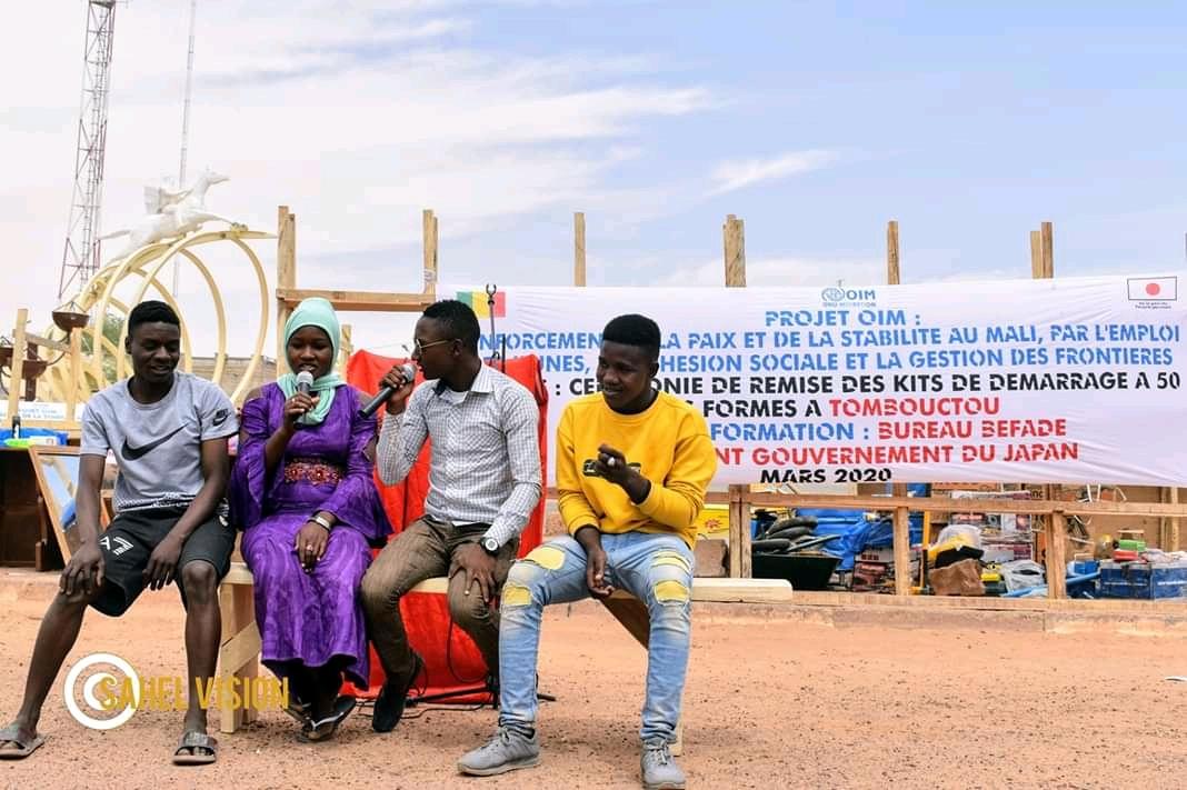 Tombouctou : 50 Jeunes formés par l'OIM bénéficient des kits de démarrage.