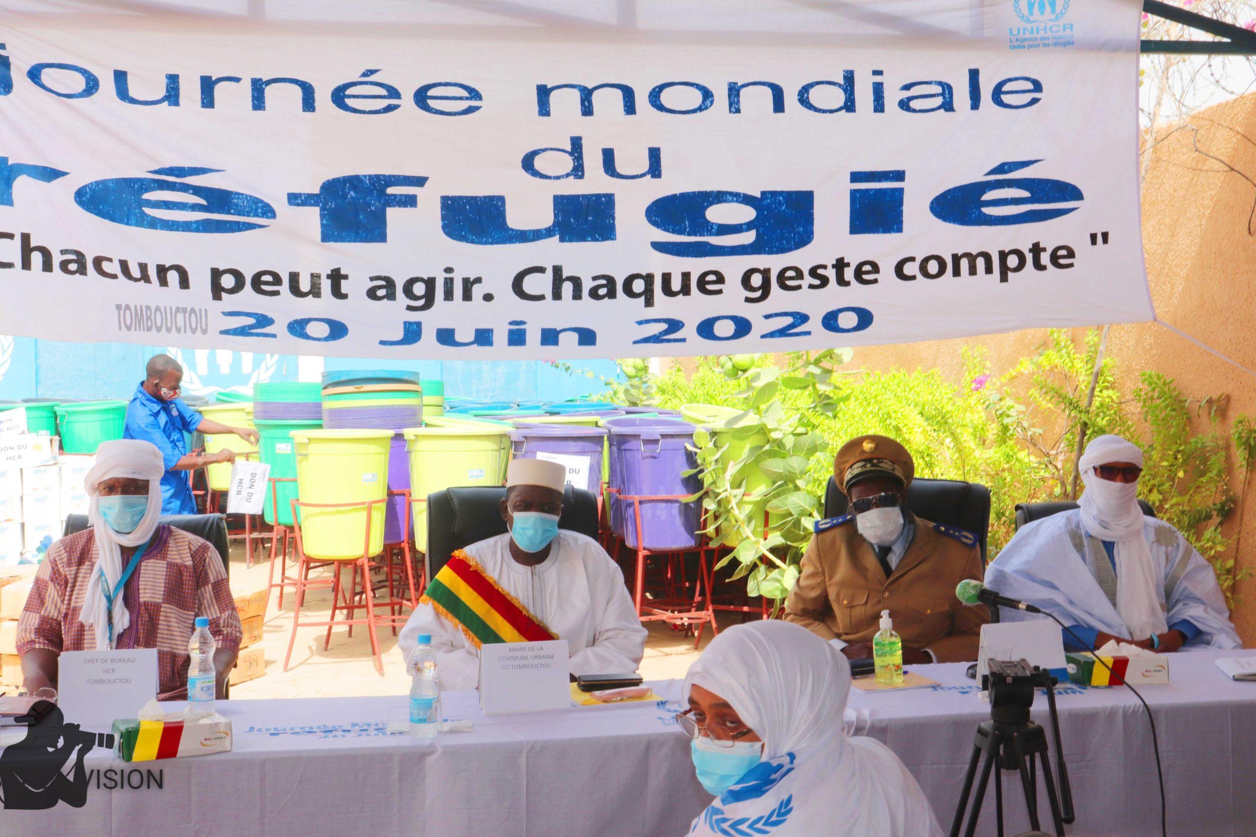 Célébration de la journée mondiale du réfugié à Tombouctou, UNHCR inscrit son nom sur la liste des contributeurs dans la lutte contre la COVID-19.