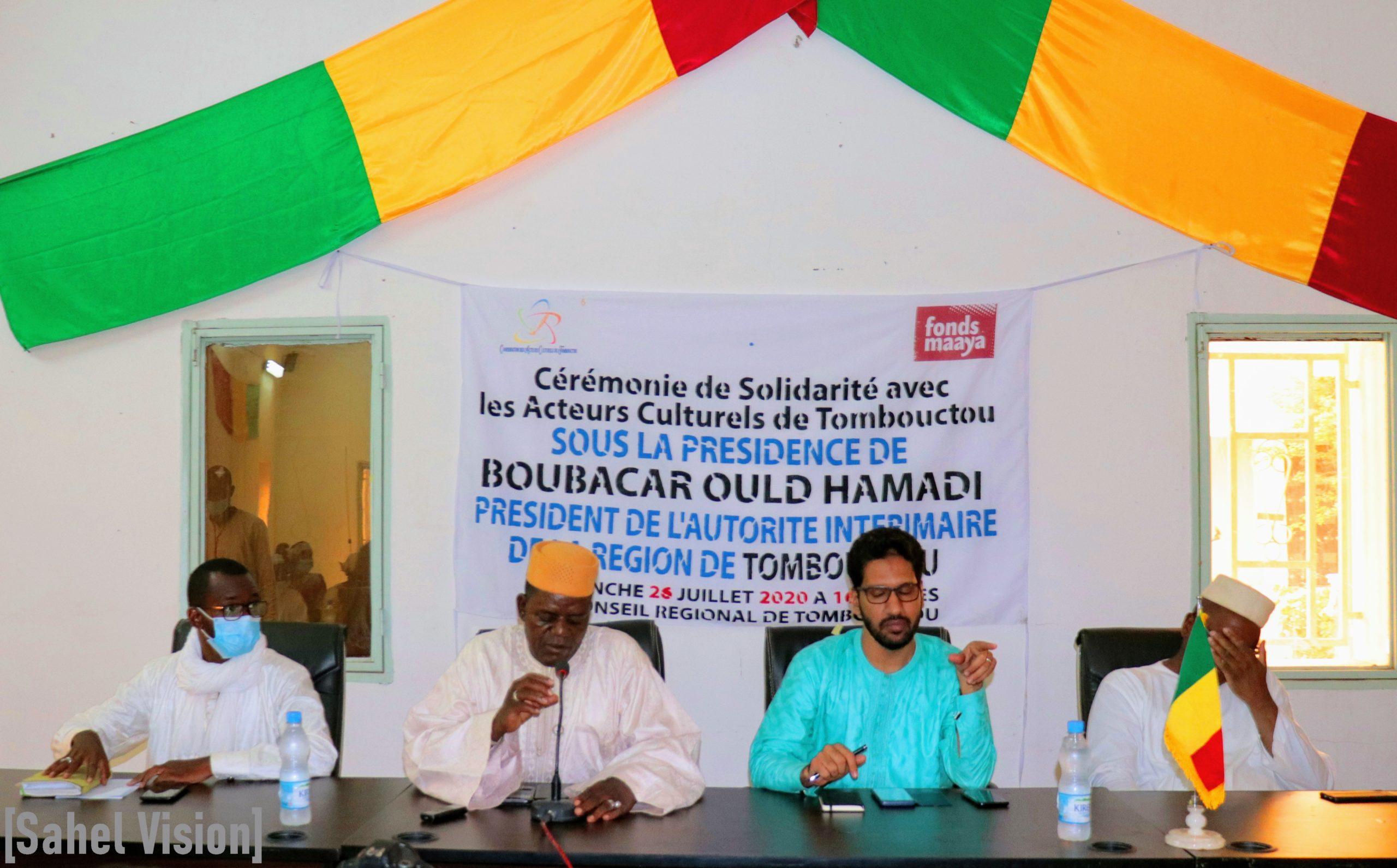Le Fonds MAAYA au chevet des acteurs culturels de Tombouctou.