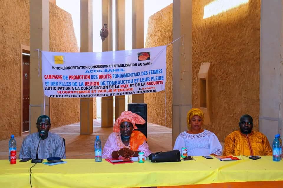 ACCS-SAHEL, lancement ses activités de sensibilisation dans la région de Tombouctou