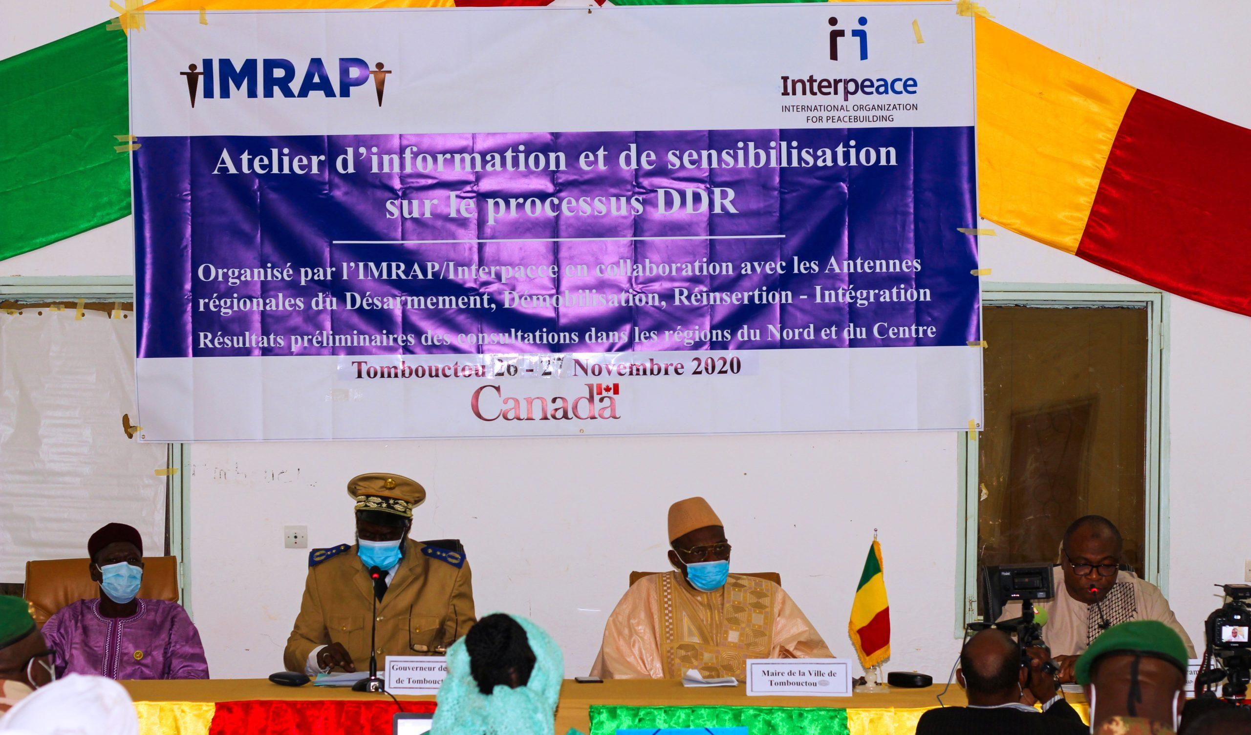 DDR, IMRAP sensibilise les populations de Tombouctou.