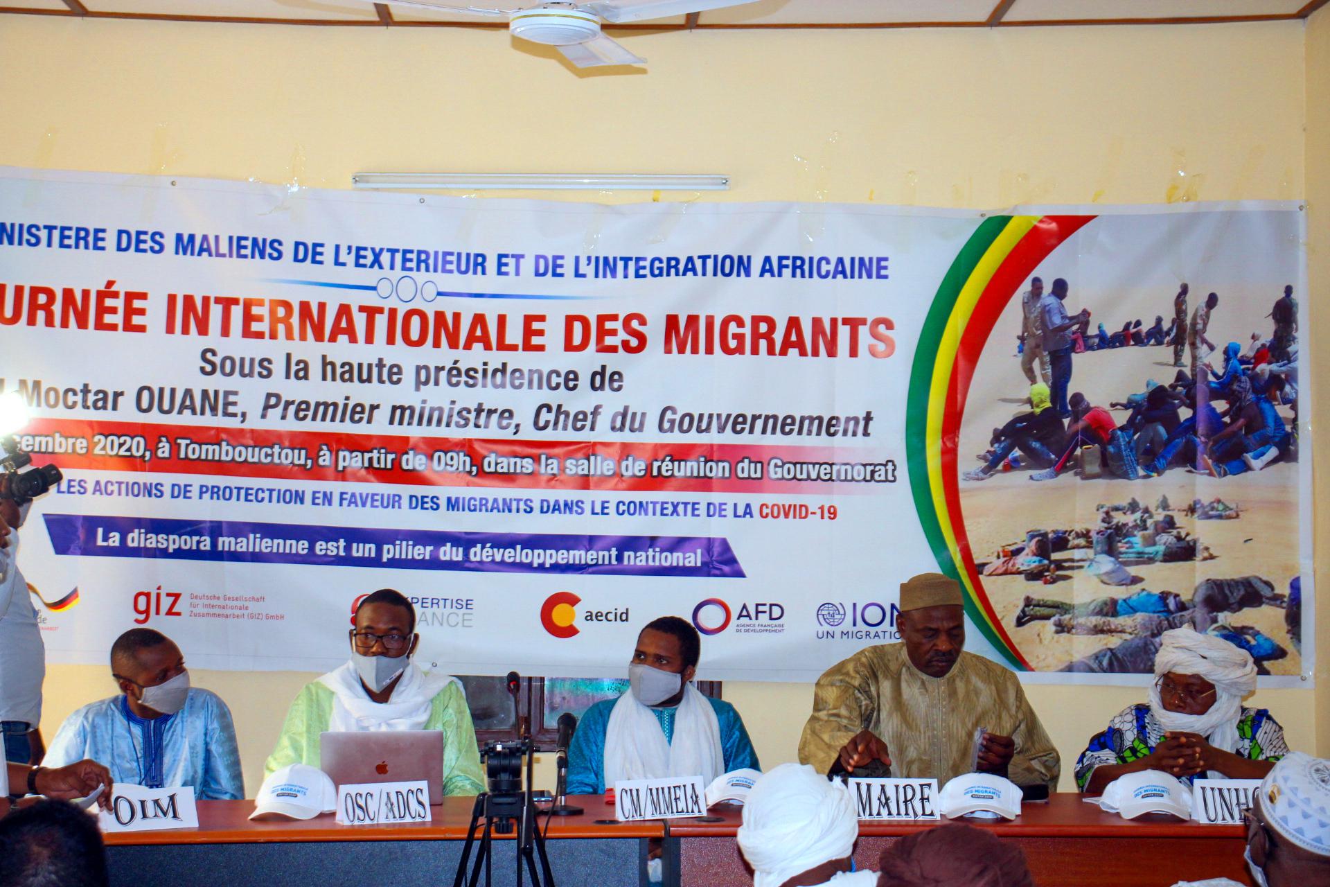 Célébration de la journée internationale des migrants, Tombouctou ne reste pas en marge.